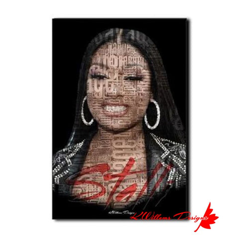 Megan Thee Stallion Word Cloud Art Print - Wrapped Canvas Art Print / 24x36 inch