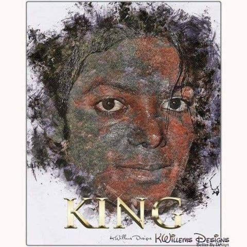 Image of Michael Jackson Ink Smudge Style Art Print