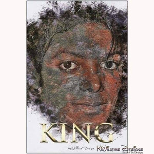 Michael Jackson Ink Smudge Style Art Print