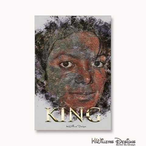 Image of Michael Jackson Ink Smudge Style Art Print - Wrapped Canvas Art Print / 24x36 inch