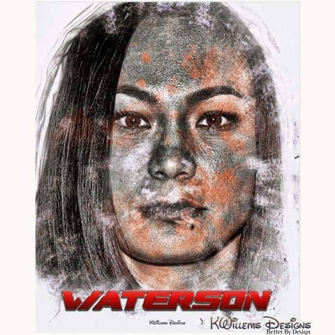 Image of Michelle Waterson Ink Smudge Style Art Print - Acrylic Art Print / 16x20 inch