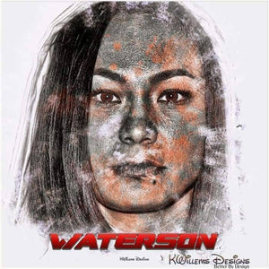 Michelle Waterson Ink Smudge Style Art Print - Acrylic Art Print / 24x24 inch