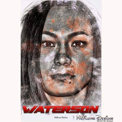 Image of Michelle Waterson Ink Smudge Style Art Print - Acrylic Art Print / 24x36 inch