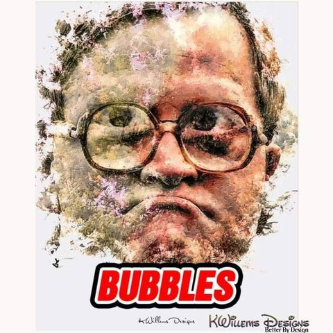 Image of Mike Smith as Bubbles Ink Smudge Style Art Print - Acrylic Art Print / 16x20 inch