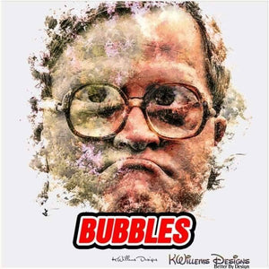 Mike Smith as Bubbles Ink Smudge Style Art Print - Acrylic Art Print / 24x24 inch