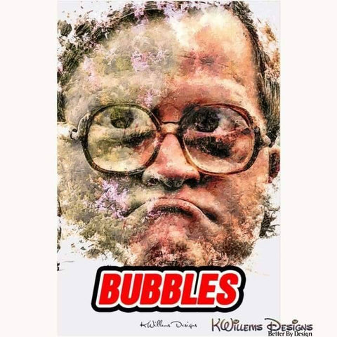 Image of Mike Smith as Bubbles Ink Smudge Style Art Print - Acrylic Art Print / 24x36 inch