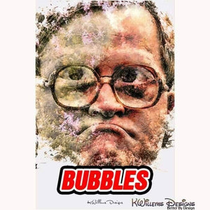 Mike Smith as Bubbles Ink Smudge Style Art Print - Acrylic Art Print / 24x36 inch