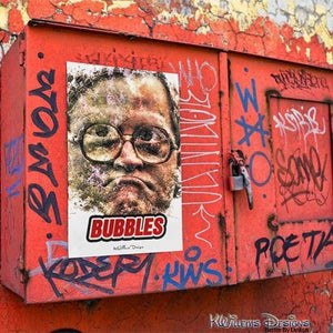 Mike Smith as Bubbles Ink Smudge Style Art Print