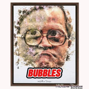 Mike Smith as Bubbles Ink Smudge Style Art Print - Framed Canvas Art Print / 16x20 inch