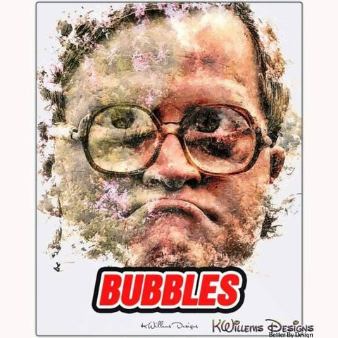 Image of Mike Smith as Bubbles Ink Smudge Style Art Print - Metal Art Print / 16x20 inch