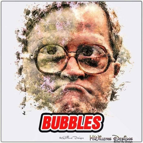 Image of Mike Smith as Bubbles Ink Smudge Style Art Print - Metal Art Print / 24x24 inch