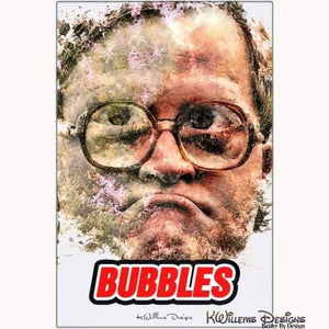 Mike Smith as Bubbles Ink Smudge Style Art Print - Metal Art Print / 24x36 inch