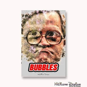 Mike Smith as Bubbles Ink Smudge Style Art Print - Wrapped Canvas Art Print / 24x36 inch