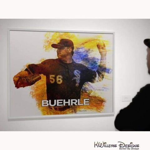 Mr. Perfect Mark Buehrle Water Colour Style Art Print