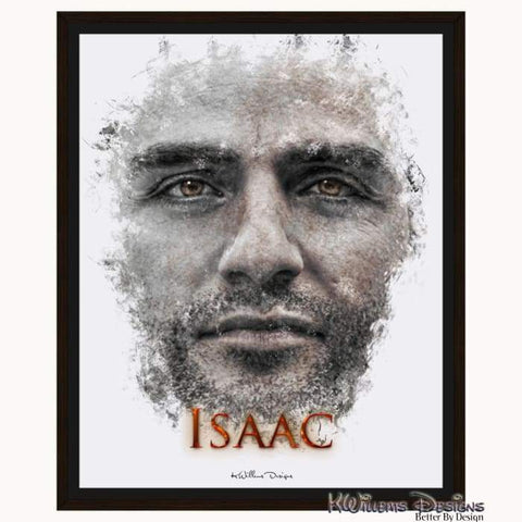 Image of Oscar Isaac Ink Smudge Style Art Print - Framed Canvas Art Print / 16x20 inch