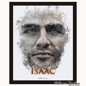 Oscar Isaac Ink Smudge Style Art Print - Framed Canvas Art Print / 16x20 inch