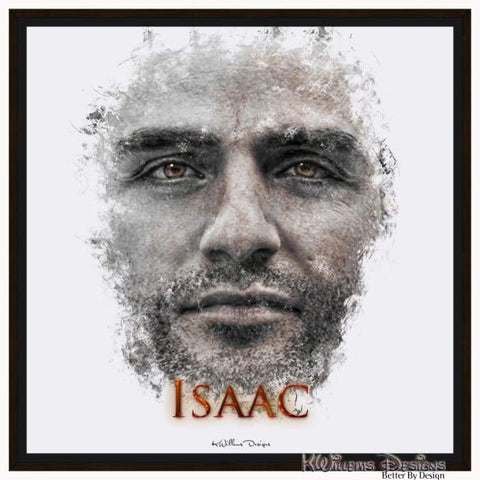 Image of Oscar Isaac Ink Smudge Style Art Print - Framed Canvas Art Print / 24x24 inch