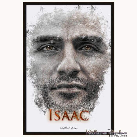 Image of Oscar Isaac Ink Smudge Style Art Print - Framed Canvas Art Print / 24x36 inch
