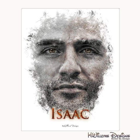 Image of Oscar Isaac Ink Smudge Style Art Print - Wrapped Canvas Art Print / 16x20 inch