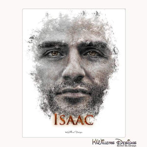 Oscar Isaac Ink Smudge Style Art Print - Wrapped Canvas Art Print / 16x20 inch