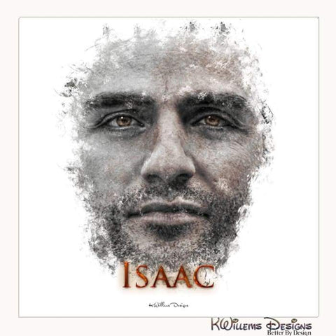 Image of Oscar Isaac Ink Smudge Style Art Print - Wrapped Canvas Art Print / 24x24 inch