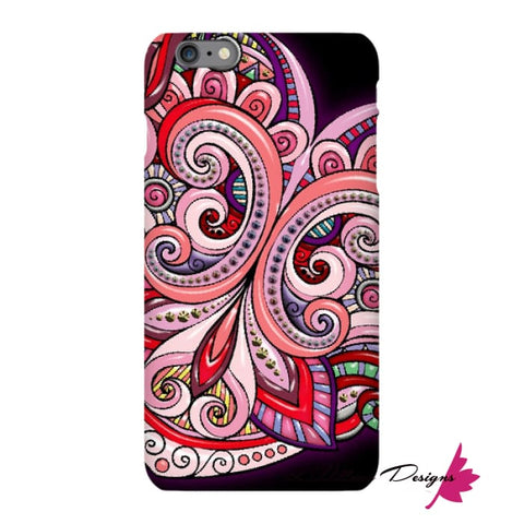 Image of Pink Floral Hearts Mandala Black Phone Cases - iPhone 6s Plus / Premium Glossy Snap Case