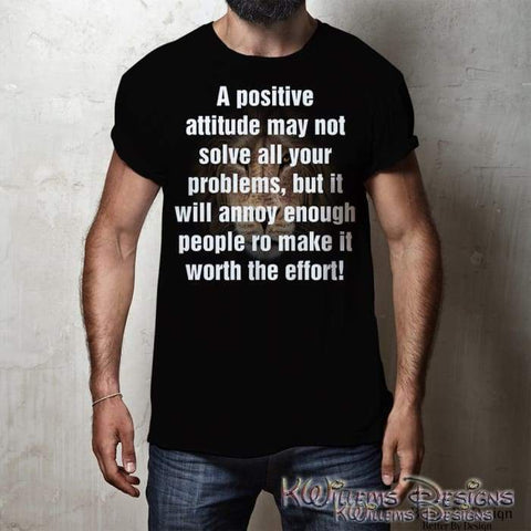 Image of Positive Attitude Mens Hanes T-Shirt
