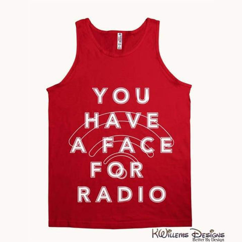 Image of Radio Face Alstyle Unisex Tank - Red / Small (S)