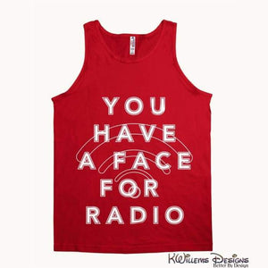 Radio Face Alstyle Unisex Tank - Red / Small (S)