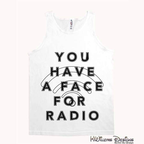 Image of Radio Face Alstyle Unisex Tank - White / Small (S)