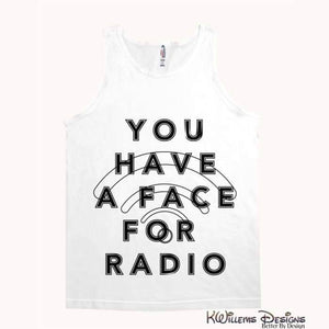 Radio Face Alstyle Unisex Tank - White / Small (S)