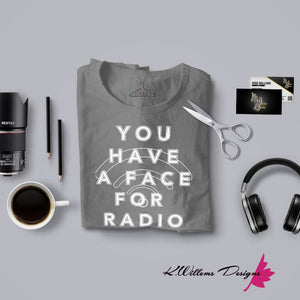 Radio Face Ladies District V-Neck T-Shirts