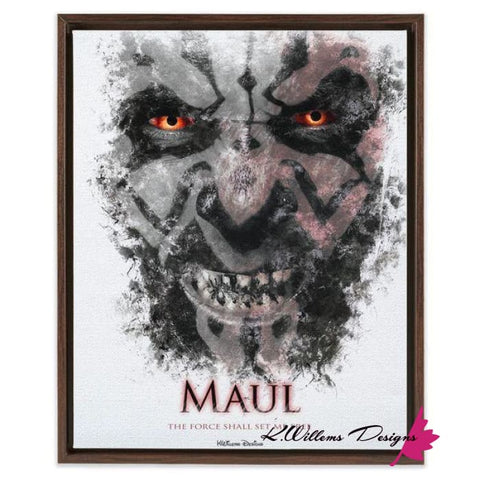 Ray Park as Darth Maul Ink Smudge Style Art Print - Framed Canvas Art Print / 16x20 inch