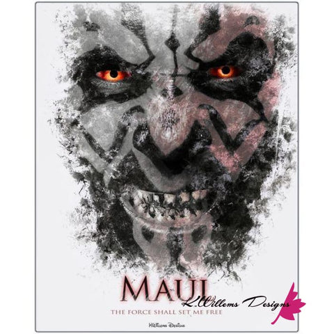 Ray Park as Darth Maul Ink Smudge Style Art Print - Metal Art Print / 16x20 inch