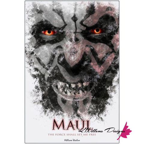 Ray Park as Darth Maul Ink Smudge Style Art Print - Metal Art Print / 24x36 inch