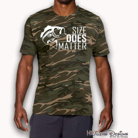 Image of Size Matters Mens Camo Tee