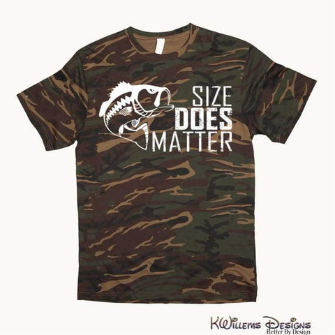 Image of Size Matters Mens Camo Tee - S
