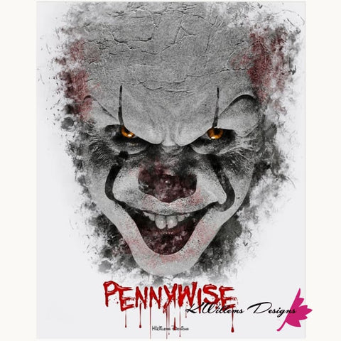 Image of Bill Skarsgard as Pennywise Ink Smudge Style Art Print - Acrylic Art Print / 16x20 inch