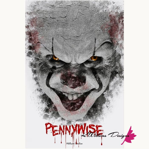 Image of Bill Skarsgard as Pennywise Ink Smudge Style Art Print - Acrylic Art Print / 24x36 inch