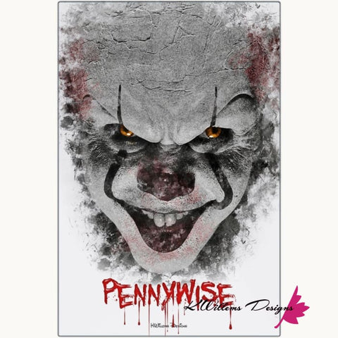 Image of Bill Skarsgard as Pennywise Ink Smudge Style Art Print - Metal Art Print / 24x36 inch