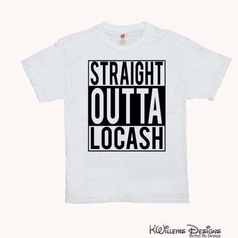 Image of Straight Outta Locash Mens T-Shirt - White / 3XL