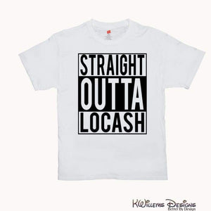 Straight Outta Locash Mens T-Shirt - White / 3XL