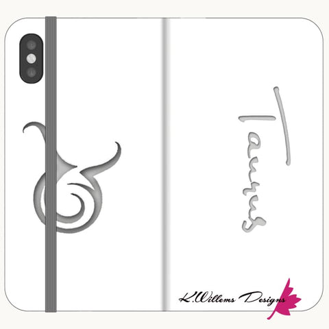 Image of Taurus Phone Cases - iPhone X / Premium Folio Wallet Satin Case