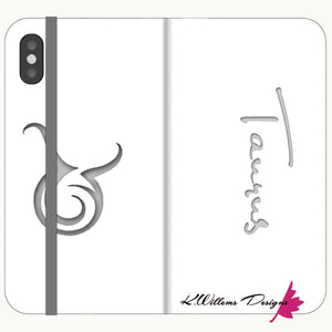 Taurus Phone Cases - iPhone X / Premium Folio Wallet Satin Case