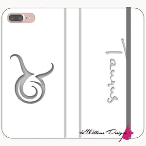 Taurus Phone Cases - iPhone 7 Plus / Premium Folio Wallet Satin Case