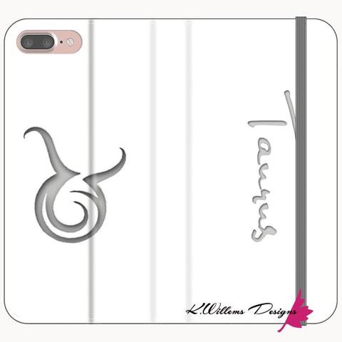 Image of Taurus Phone Cases - iPhone 8 Plus / Premium Folio Wallet Satin Case