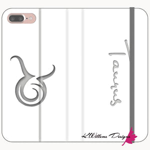 Taurus Phone Cases - iPhone 8 Plus / Premium Folio Wallet Satin Case