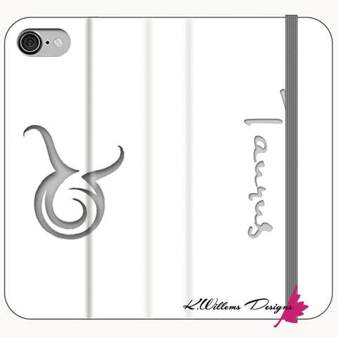 Image of Taurus Phone Cases - iPhone 8 / Premium Folio Wallet Satin Case