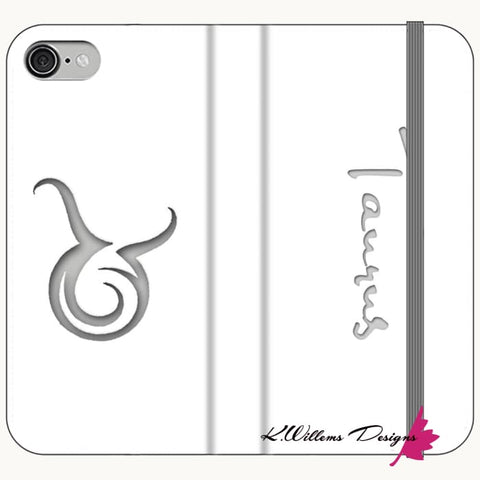 Image of Taurus Phone Cases - iPhone 7 / Premium Folio Wallet Satin Case