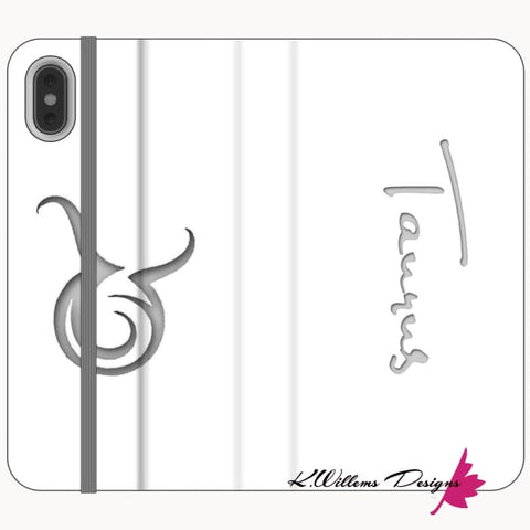 Image of Taurus Phone Cases - iPhone XS Max / Premium Folio Wallet Satin Case